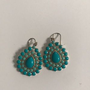 Stella & Dot Retired Turquoise drop earrings